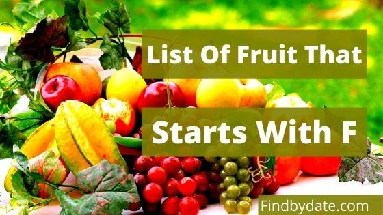 fruits starting with f