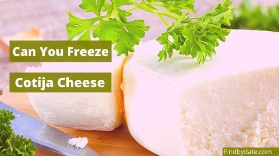 Freezing cotija cheese